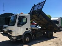 DAF LF45 TIPPER 2002 STEEL DROP SIDE BODY RUNS AND DRIVES OK OUT OF TEST
