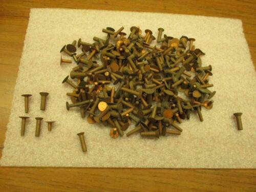 "Assorted Vintage Solid Copper Rivets 1/8"" & 3/16"" 22 Oz Wt."