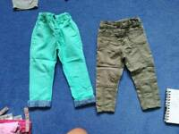 Girls next trousers 12-18 months