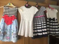 4 girls dresses aged 3-4