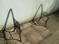 Cast iron metal bench ends for sale
