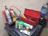 lead burning tools and accessories with quality steel box. view my other adds all sorts on.