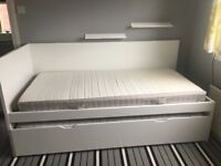 Ikea single cabin bed with roll out bed