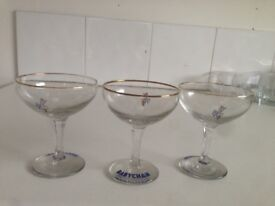 3 Babycham Glasses