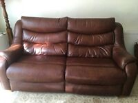 Leather Parker Knoll Sofas.