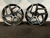 "18"" New VW 812 style alloy wheels & tyres VW Jetta,Passat,Caddy Golf MK5,MK6,MK7 Etc 5x112"