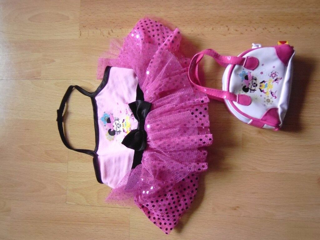 Build a Bear Minnie Mouse Dress and Handbag