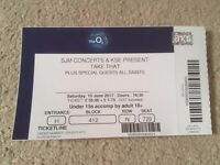 4 x Take That & All Saints O2 Tickets 10th June 2017