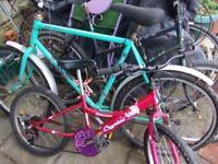 3 x bikes gents/ladies/kids joblot