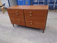 Retro Vintage Mid Century Teak Chest Of Draws,Can Deliver