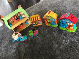 ELC Happyland toy shop, flower shop, cupcake bakery and rose cottage