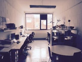 Desk space in shared architects studio for £250 per month to let.