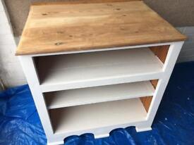 Solid Pine Painted TV Stand/SideTable