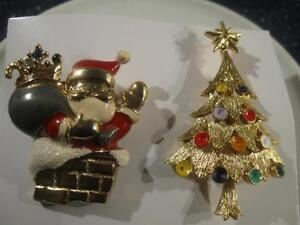TWO ADORABLE SEASONAL BROOCHES for YOUR PLEASURE