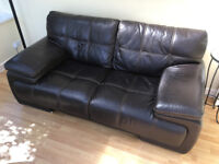 Brown Leather Sofa Couch Extremely Comfortable Well Looked After Excellent Condition Approx 2 metre