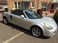 Silver Toyota MR2 Convertible 1.8 VVT-i Roadster (52 reg) for quick sale -Perfect for summer!