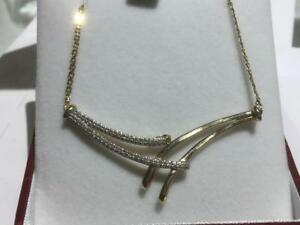 "#1359 10K YELLOW GOLD DIAMOND 17"" NECKLACE ** JUST BACK FROM APPRAISAL AT $1650.00 SELLING FOR ONLY $495.00**"