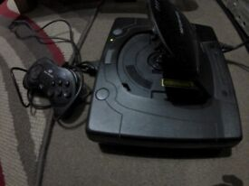 Sega Saturn console with leads and controller TESTED/WORKING
