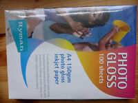 £20 for 3 packs of Photo Gloss Paper, A4 size for inkjet printer.