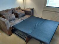 Brown comfortable sofa bed