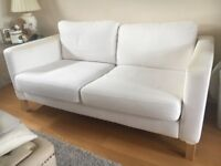2 Seater white Ikea Sofa