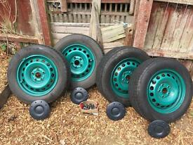 Vw caddy steel wheels