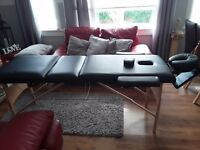 Massage table with attachments