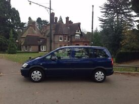 54 PLATE VAUXHALL ZAFIRA 1.6 PETROL 7 SEATER 92'000 MILES VOSA HISTORY 1 OWNER HPI CLEAR CLEAN CAR