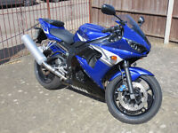 Yamaha YZF-R6 2005 (5SL) Motorcycle - Low miles, MOT till 24/03/18, New tyres.