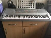 Electric keyboard with extras
