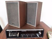 Vintage 8 Track player & Speakers