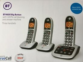 BT 4600 - 3 Cordless phones with answerphone and Block button