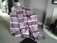 two pairs aubergine curtains 54 x 90
