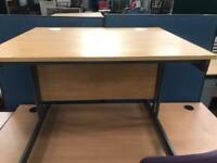 1000mm x 800mm Straight Desk - Oak Veneer