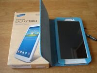 White Samsung Galaxy Tab 3 w/ Case and Charger