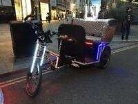 Pedicab Rickshaw with music for sale ! Tuk Tuk 3 Wheels Electric Bike With Engine Gift for Kids