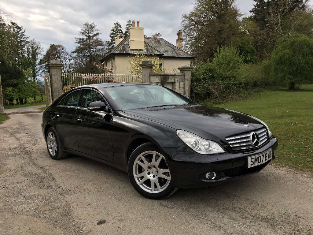2007 mercedes cls 320 cdi 7 g tronic black f s h new tyres alla round service and pads in. Black Bedroom Furniture Sets. Home Design Ideas