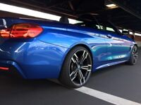 BMW 435D XDRIVE 3.0 M SPORT CONVERTIBLE 2DR 20' ALLOYS, DIESEL, AUTO, ESTORIL BLUE 375 BHP
