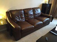 Reid 'natuzzi' leather 3 and 2 seater sofas