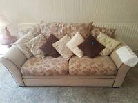 2 x Two Seater Settee Sofa