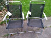 HOME Atlantic Steel Folding Chairs - Set of 2