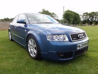 2002 AUDI A4 2.5 TDI QUATTRO SPORT..MOTED TO NOVEMBER..POSSIBLE PART EXCHANGE..CREDIT CARDS ACCEPTED