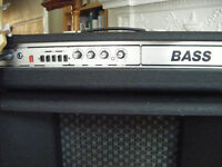 Classic 70's Bass Amp with Speaker Box in Great Condition with Original Vinyl Covers