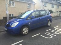 ## Toyota verso , mot and 4 new tyres ##