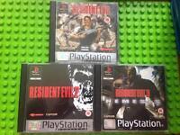 RARE Resident evil bundle 1 & 2 & 3 nemesis PlayStation 1