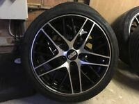 BBS alloys in amazing condition and brand new tyres