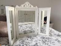 White vanity dressing table mirror ikea look
