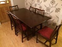 GREAT QUALITY STAG SOLID WOOD EXTENDING DINING TABLE WITH 6 CHAIRS