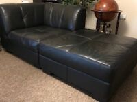 Leather Corner Sofa - 4 main segments + 1 Foot rest