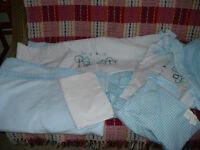 Red Kite Cosi Cot Blue Beep Beep 4 Piece Bedding Set: Duvet, Pillow Case, Fleece Blanket, Flat Sheet